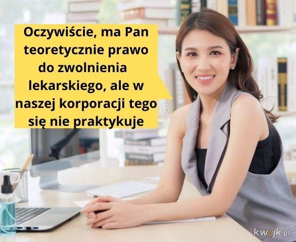 Pani Agnieszka z HR w średnim korpo