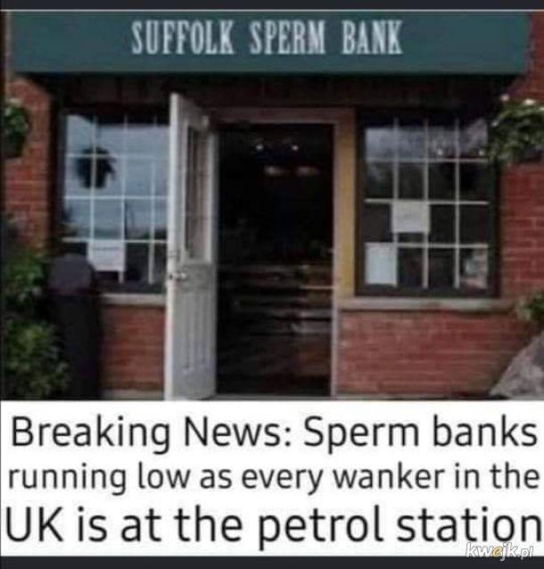 taka sytuacja na stacjach paliw w Anglii