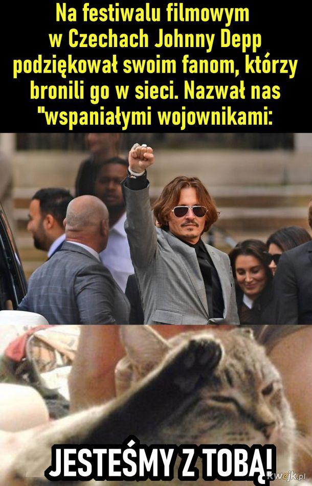 Johnny Depp podziękował fanom