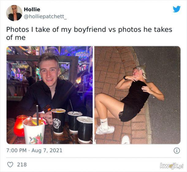 """""""Zdjęcia, które robię mojemu chłopakowi vs zdjęcie, które robi mi"""", obrazek 6"""