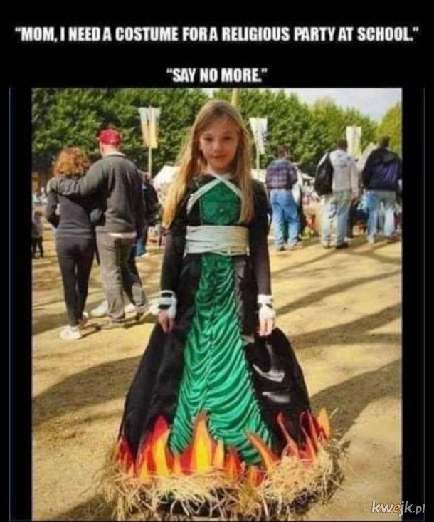 Idealny kostium na imprezę religijną nie istnieje....