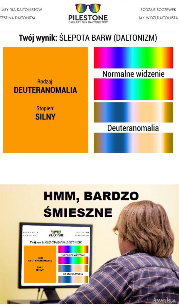 Test na widzenie barw z grafiką poglądową...