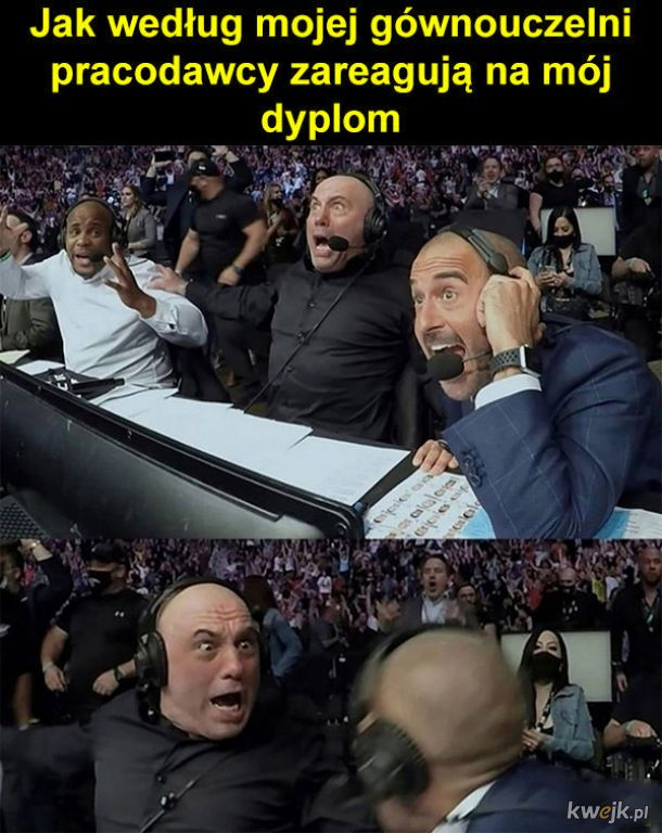 Reakcja na dyplom
