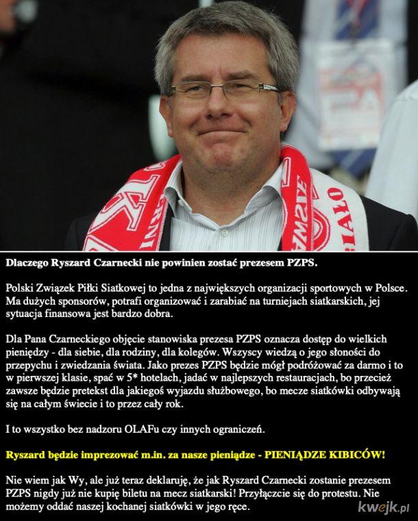 Nie dla Ryszarda Czarneckiego w Polskiej Siatkówce!