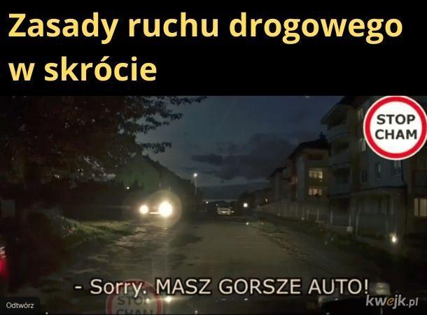 Zasady ruchu drogowego