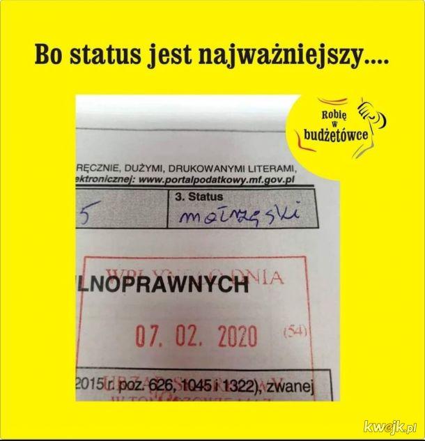 A Wy jaki macie status?