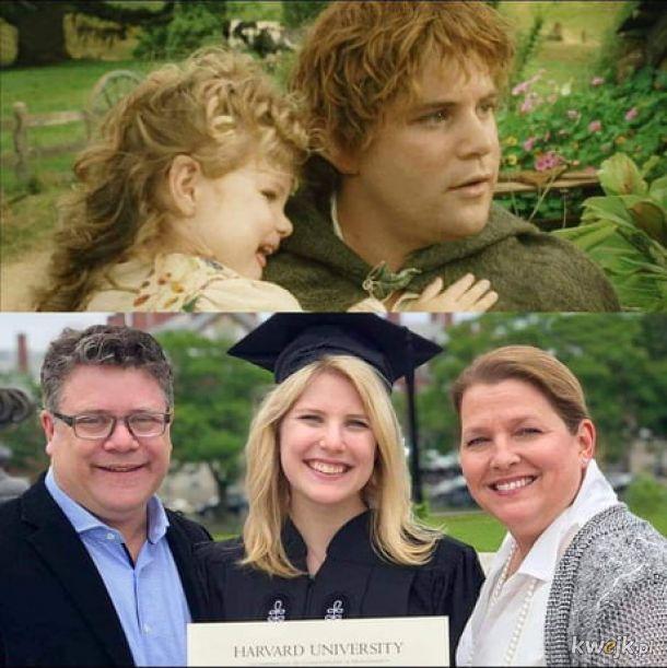 Hobbit z córką i jeszcze raz z córką.