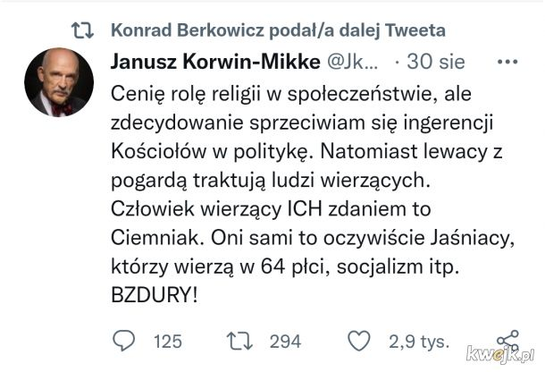 Korwin - Mikke znowu w punkt.