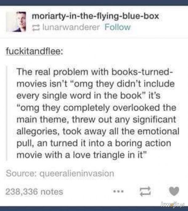 Prawdziwy problem z ekranizacją książek