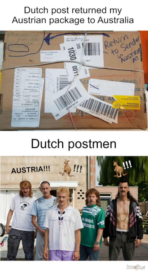 Duńska poczta.