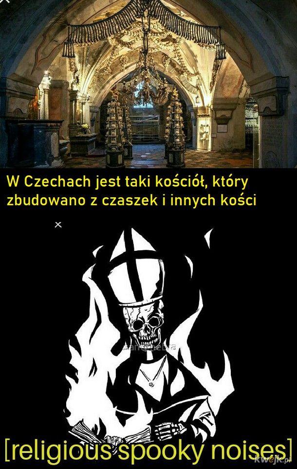 Czeski kościół z kości