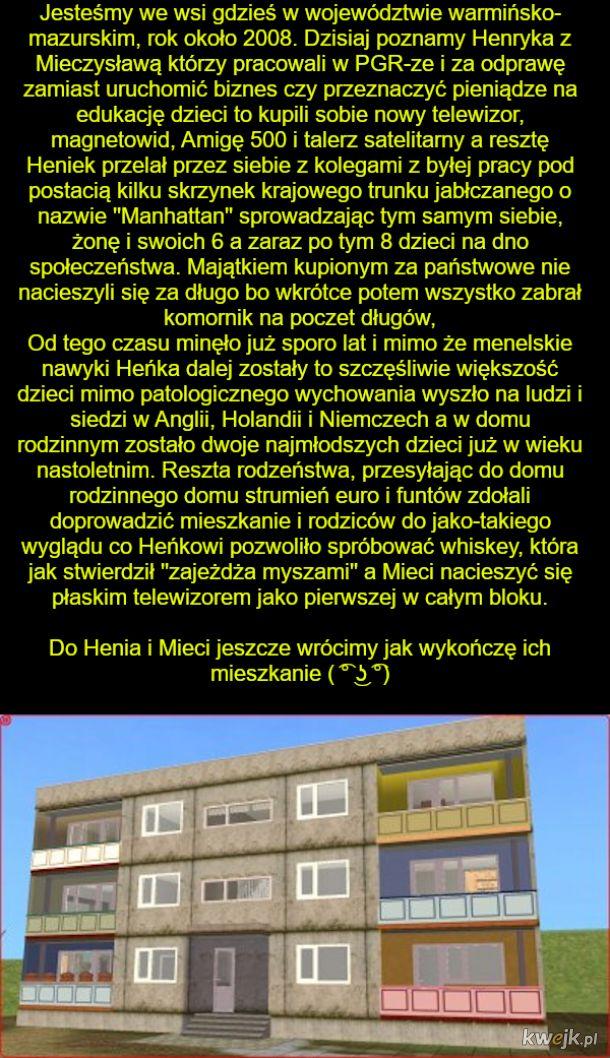 Użytkownik MarianoaItaliano z Wykopu odtwarza w Simsach polskie blokowiska