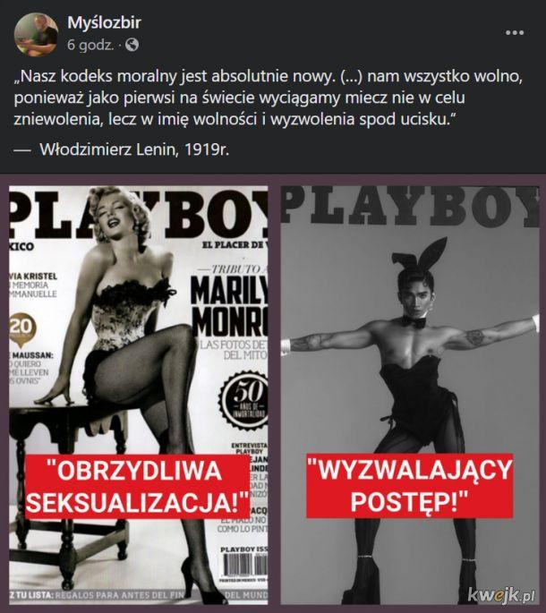 Po prawej nowa okładka magazynu dla panów Playboy