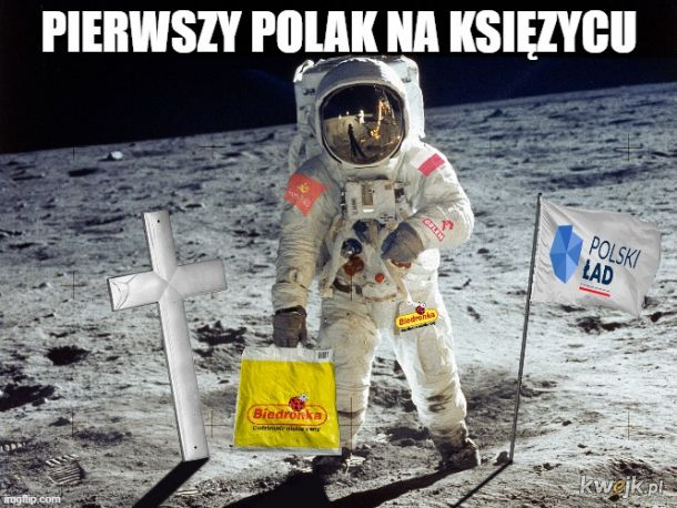 Pierwszy rodak na księżycu