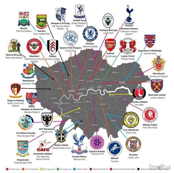 Piłkarska mapa Londynu
