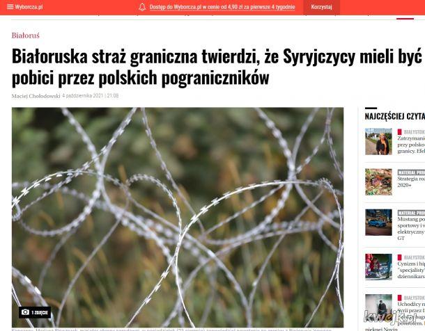 """Z cyklu: Białoruska """"prawda"""" i jej rozpowszechnianie po polsku. I jeszcze tłumaczenie, że powielają komunikaty białorusińskie, bo polska SG ich nie wpuszcza (tak jakby siedzieli na granicy w Białorusi i mieli info z pierwszej ręki)"""