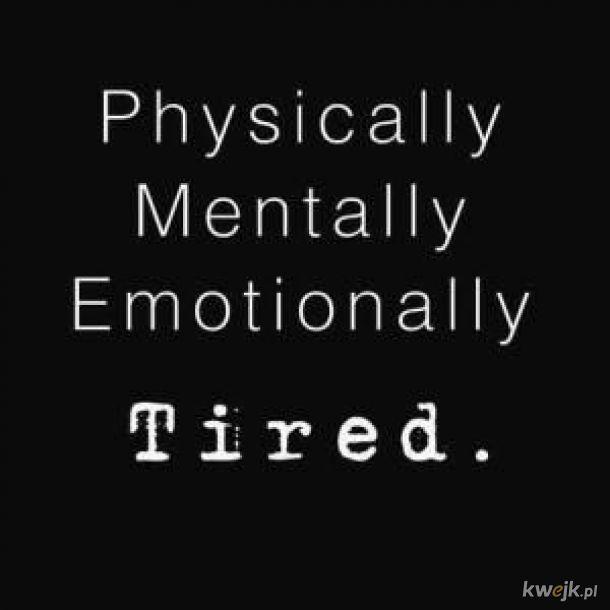 wyczerpany nawet