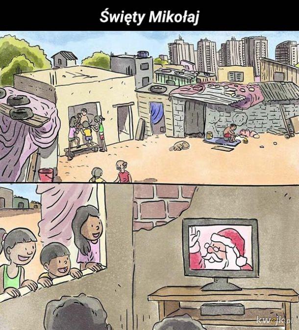 Brazylijski artysta tworzy komiksy, które nie potrzebują słów, by opisać problemy, z jakimi mierzą się jego rodacy