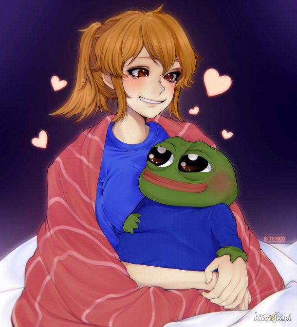 Aspie chan i żaba.