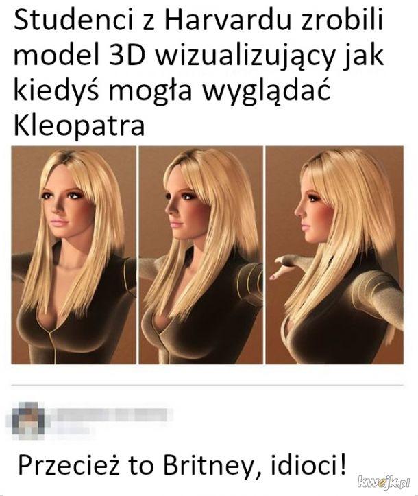 Model 3D Kleopatry czy tam Britney