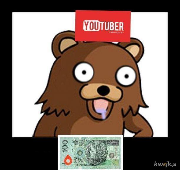 Youtuber Żebranie