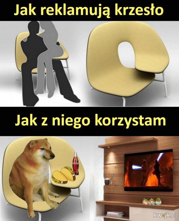 Reklama krzesło