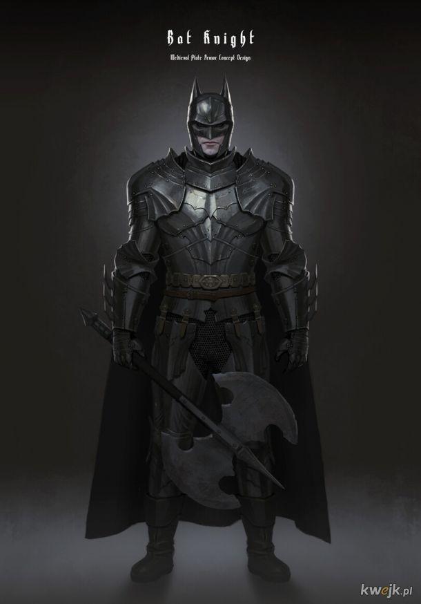 Batman w wersji nieco starszej, zbroja a'la krucjata