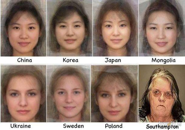 Rysy twarzy kobiety z różnych miejsc na świecie
