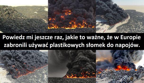 Największe na świecie składowisko opon w Kuwejcie nie zapaliło się samo.