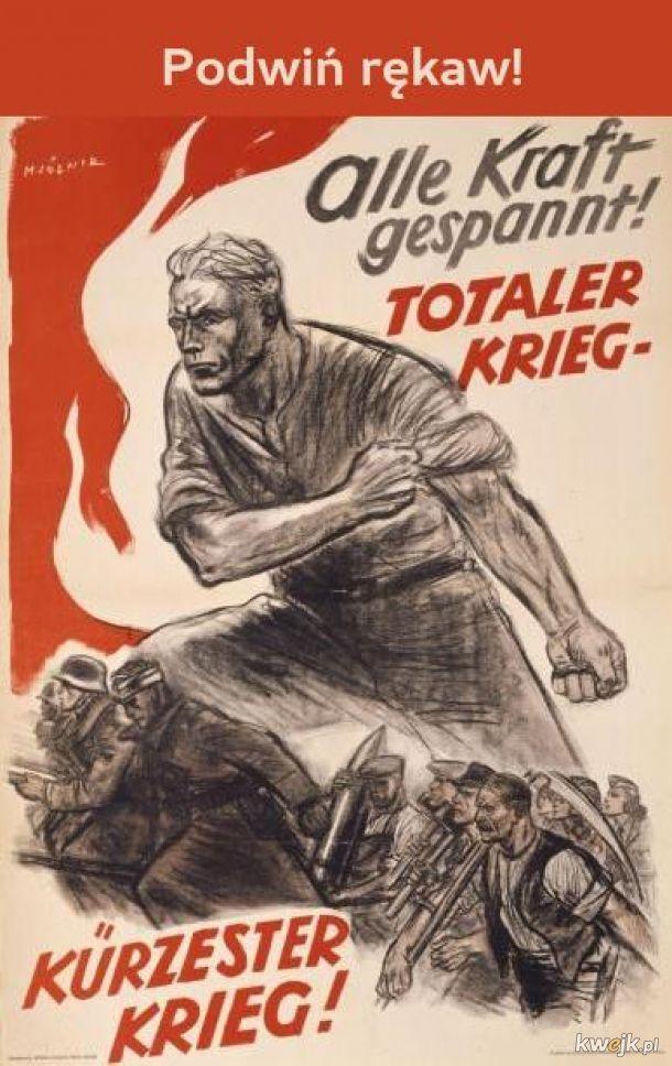 Niemiecki plakat promujący szczepienia