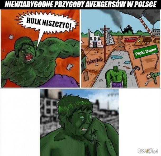 Hulk przyszedł na gotowe i zareagował z nietypową sobie charyzmą