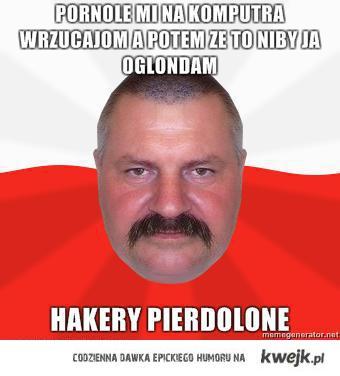 Polak Meme: Hakery