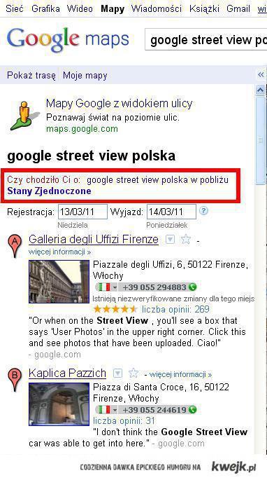 Google wie lepiej, gdzie leży Polska