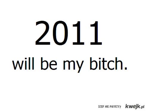 2011 will be my bitch