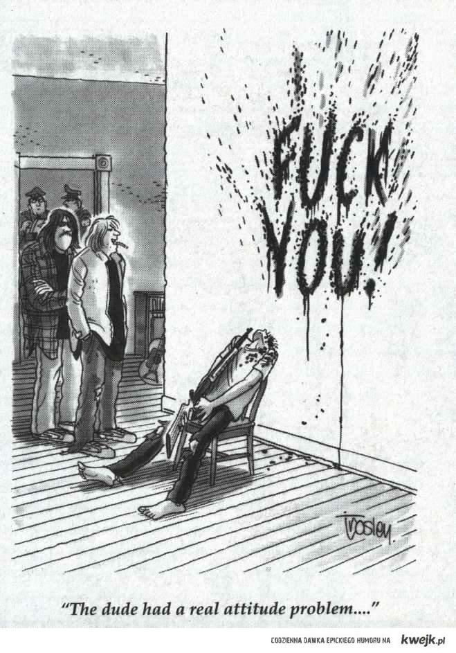 karykatura samobójstwa