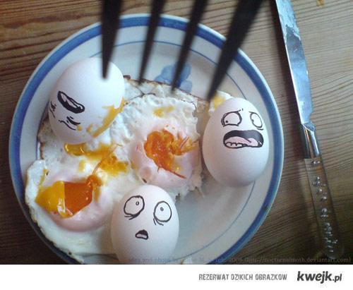 śmierć jajek
