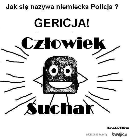 Czlowiek Suchar Policja