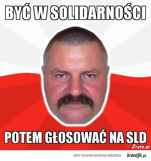 Być w solidarności, potem głosować na SLD