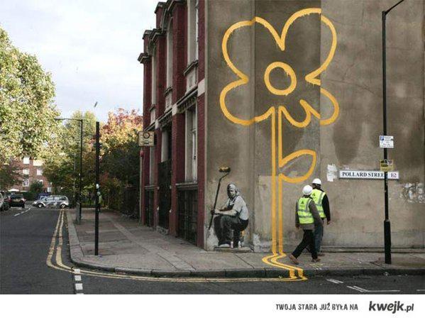 Kwiatek by Banksy