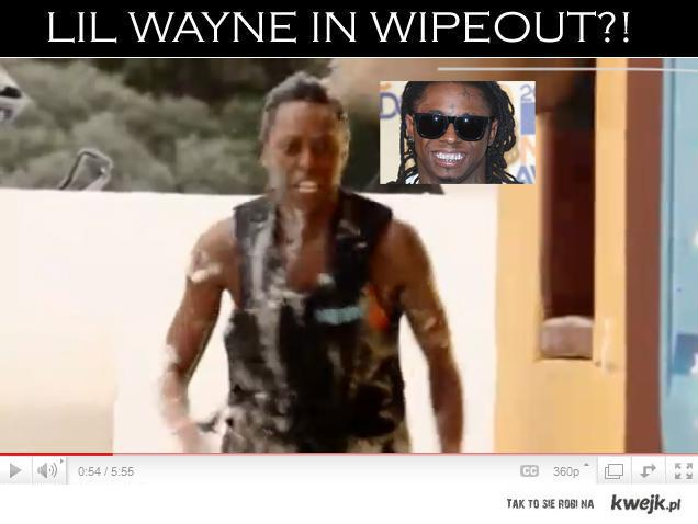 Lil Wayne in Wipeout !