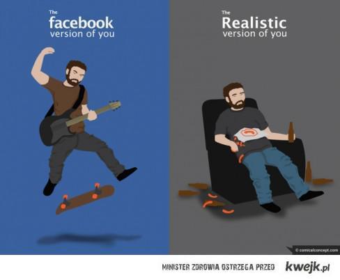 Facebook VS. Rzeczywistośc