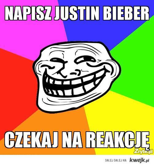 Napisz Justin Bieber