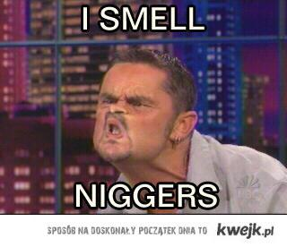 I smell niggers