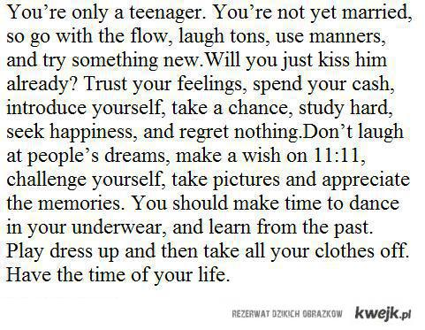 being a teenager