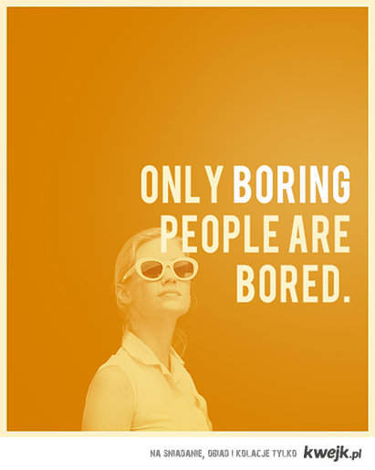 Bored people.