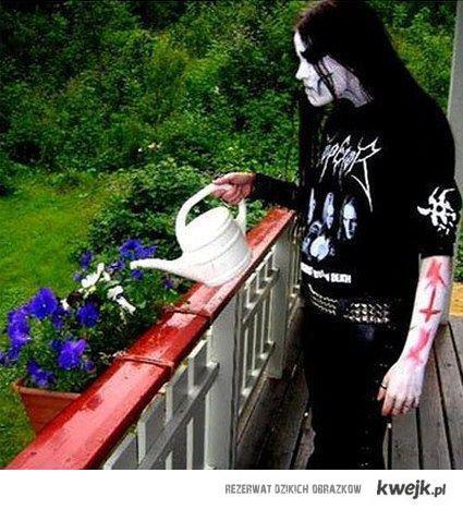 metal i kwiatki