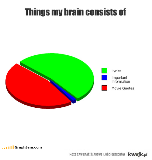 Things my brain consists of
