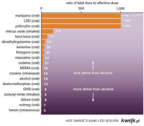 zobaczmy jakie używki są mniej szkodliwe od alkoholu