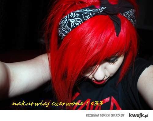 czerwonee