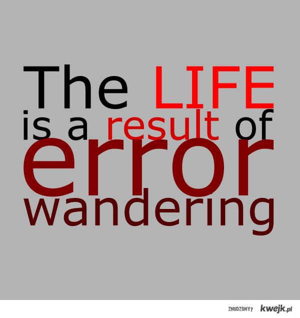 error wandering